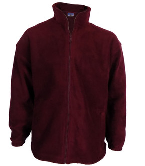 High Quality 400gsm Zip Up Fleece Burgundy - £3.00