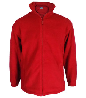 High Quality 400gsm Zip Up Fleece Red - £3.00