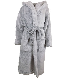 Ex M-S Ladies Long Pile Hooded Dressing Gown  - £7.50