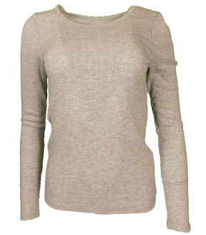 Ex M-S Ladies Long Sleeve Thermal Top Grey - £2.50