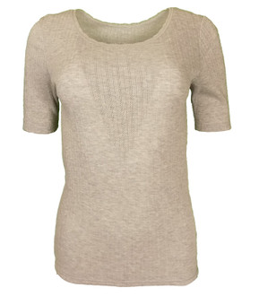 Ex M-S Ladies Short Sleeve Thermal Top Grey - £2.50