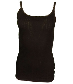 Ex M-S Ladies Strappy Thermal Top Black - £2.25