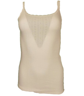 Ex M-S Ladies Strappy Thermal Top Ivory - £2.25