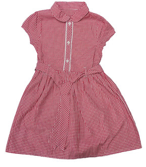 Ex Major Highstreet Gingham Dress with Belt - £1.75