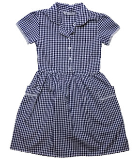 Ex M-S Girls Gingham Dress with Pockets - £2.50