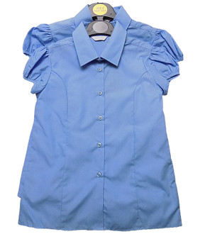 Ex B-S Girls Short Sleeve School Blouse 2 pack - £2.80