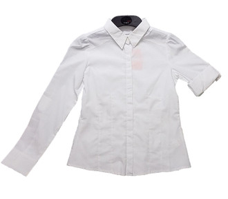 Ex B-S/Tammy Girl Roll Sleeve School Shirt - £1.40