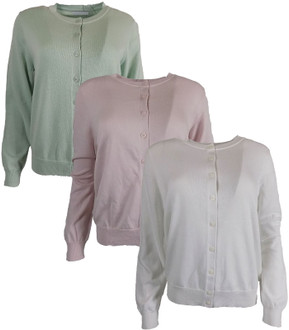 Ex M-S Ladies Round Neck Cardigan - £4.95