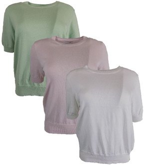 Ex M-S Ladies Round Neck Knitted Top - £3.50
