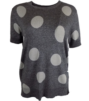 Ex M-S Short Sleeve Knitted Spot Jumper - £3.50
