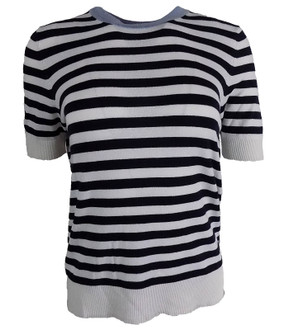 Ex M-S Short Sleeve Knitted Stripe Jumper - £3.50