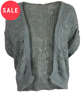 Ex M-S Ladies Open Knit Shrug Style Cardigan - WAS £2.50   NOW £1.25