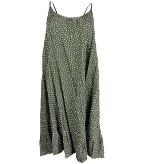 Ex M-S Ladies Spot Woven Summer Beach Dress - £4.00