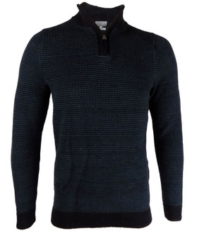 Ex M-S Mens Textured Half Zip Jumper - £4.95