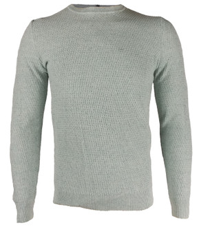 Ex M-S Mens Textured Crew Neck Jumper - £4.95