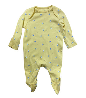 Ex M-thercare Girls Butterfly Print Sleepsuit - £2.00