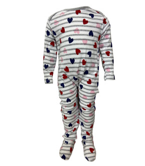 Ex M-thercare Heart Print Sleepsuit - £2.00