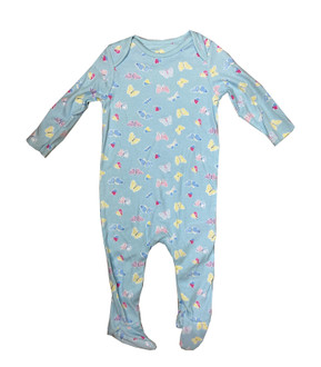Ex M-thercare Girls All over Butterfly Print Sleepsuit - £2.00