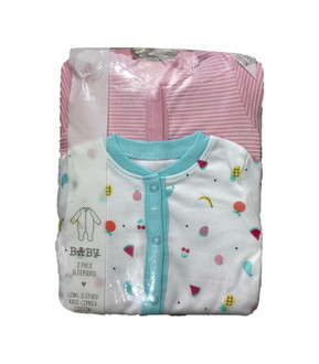 Ex Major Highstreet Twin Pack Baby Sleepsuits - £3.95