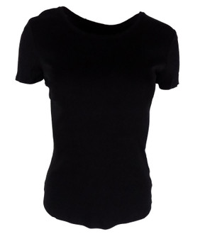 Ex M-S Ladies Black Short Sleeve Top - £2.00