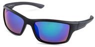 Black Sports Wrap Sunglasses