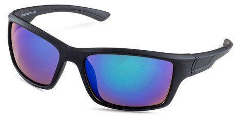 Black Sports Wrap Sunglasses