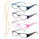 Crystal Reading Glasses-Set of Four Colors