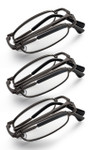 Gunmetal folding reading glasses