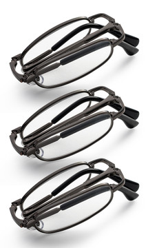 Gunmetal folding reading glasses