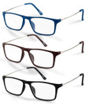 Flexible Reading Glasses-Set of Three Colors