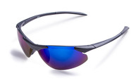 Matte Black Sport Wrap Sunglasses