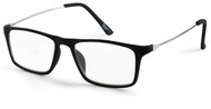 Black Rubber Reading Glasses