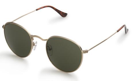 Gold Retro Round Sunglasses