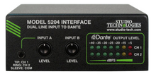 Model 5204 Dual Line Input to Dante Interface