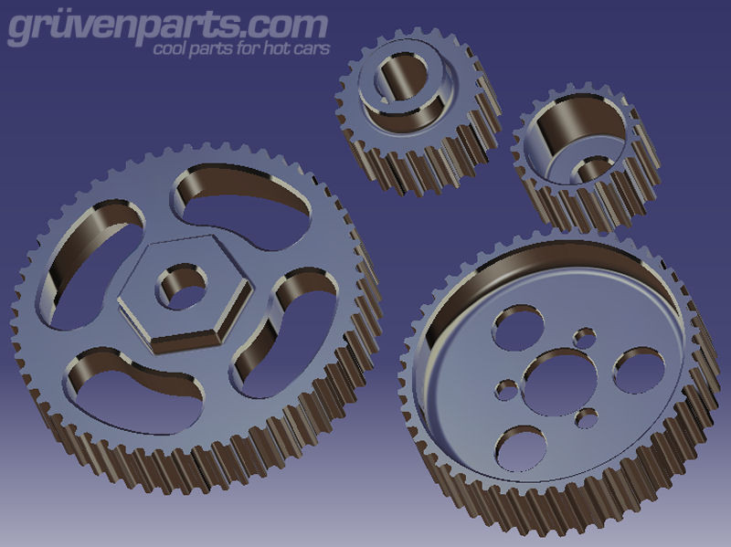 VR6 Cogged Supercharger Pulleys - Gruven Parts