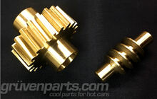 GruvenParts Brass Power Seat Height Adjustment Gears - Worm and Spur