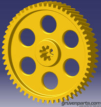 GruvenParts.com High Strength Brass Spur Gear for GM