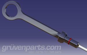 GruvenParts.com Billet Fiat 1.4L Dipstick Assembly