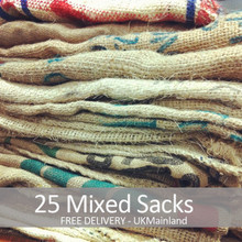 25 Mixed Coffee Sacks - Free Delivery.