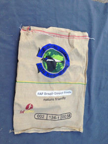 Bob o Link - Blue - Brazil - Used Coffee Sack - Front