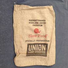 Black Clean Coffee - Coffee Sacks Back - Red Slow Food