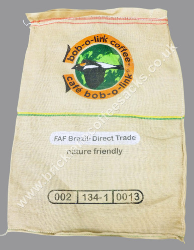 BOB-O-LINK COFFEE DO BRAZIL FRONT IMAGE  USED COFFEE SACK