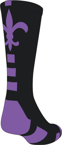 Back view of sock.