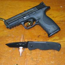 "Emerson CQC-7B BT Folding Tanto Knife (3.3"" Black Plain)"