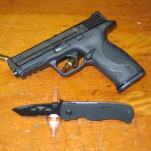 """Emerson Mini CQC-7 Knife w/ Wave (2.9"""" Black Serr) MCQC7BWAVE-BTS"""