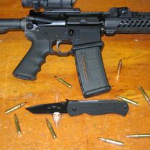 """Emerson Super CQC-7 BT Tanto Knife w/ Wave (3.78"""" Black Plain) SCQC7BT"""