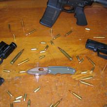 Medford Knife & Tool 187 Ramp Nose, D2 Vulcan Blade, OD Green G10 front