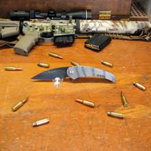 Medford Knife & Tool Wyper, D2 Vulcan Finish Blade, Flame Finished Titanium Handles