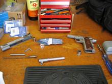 Medford Knife & Tool, Sherman, PVD D2 Blade, PVD Titanium Handles, front