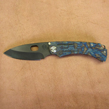 Medford Knife & Tool, The Colonial T, Unique Flame Ti/Ti Handle, D2 Vulcan Blade, front